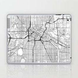 Minneapolis Map White Laptop & iPad Skin
