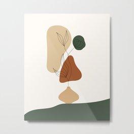 The Wall Theory Flower pot Boho Art Metal Print