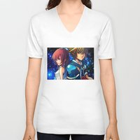 kingdom hearts V-neck T-shirts featuring KINGDOM OF HEARTS by Cat Milchard