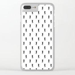 Golfer Silhouette Pattern Clear iPhone Case