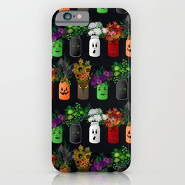 Halloween Mason Jar Bouquets iPhone Case