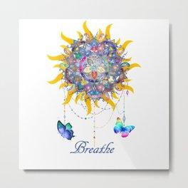 Breathe Mandala Metal Print