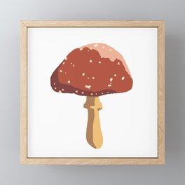 little Mushroom Framed Mini Art Print