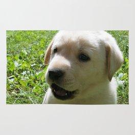 Gggrrr Yellow lab puppy Rug