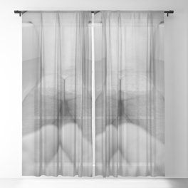 Man in Bathtub Sheer Curtain
