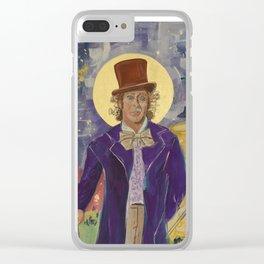 Gene Wilder Icon Clear iPhone Case