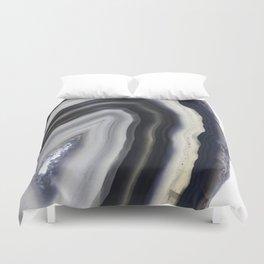 Grey agate slice Duvet Cover