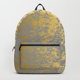 Gold Patina Design on Ultimate Gray Backpack