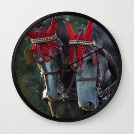 Carriage horses Wall Clock