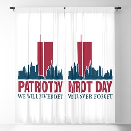 Never Forget 9 11 Anniversary Blackout Curtain