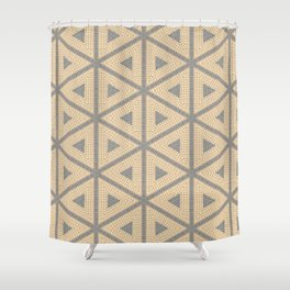Textured Tile Triangle Pattern Design Shower Curtain