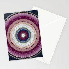 Decorative Wine Dark Blue Mandala Stationery Cards