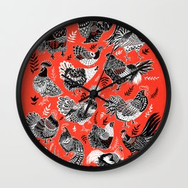 Lil Cluckers Wall Clock
