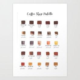 Coffee Shop Palette Art Print