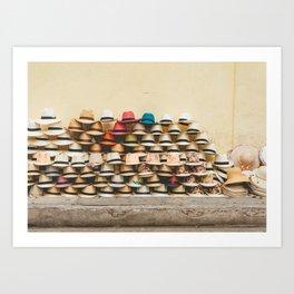 Panama Hats in Cartagena, Colombia Art Print