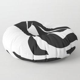 Matisse Cut Out Figure #4 Black Floor Pillow