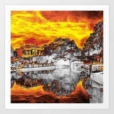 Landscape London,hot effect Art Print