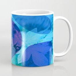 Abstract Blue Stones and Foliage Coffee Mug