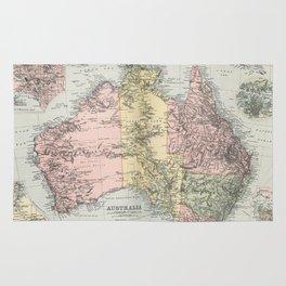 Vintage Map of Australia (1891) Rug