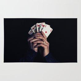 cards poker win Rug