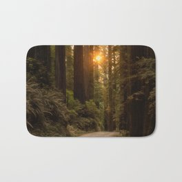 Sunrise in the Redwoods Bath Mat