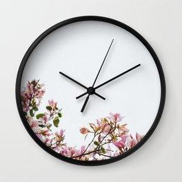 Minimal Flowers Wall Clock