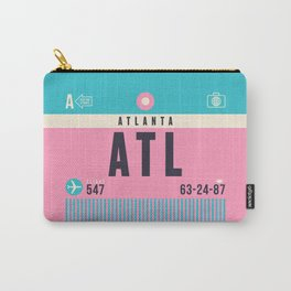 Luggage Tag A - ATL Atlanta Hartsfield Jackson Carry-All Pouch