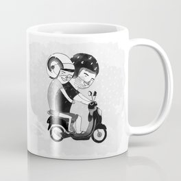 Riding in the Rain Coffee Mug