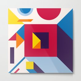 Abstract modern geometric background. Composition 12 Metal Print