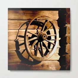 Old Cartwheel #decor #society6 #buyart Metal Print