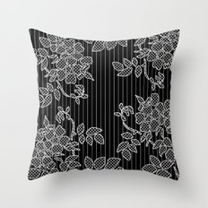 LIVING IN BLACK AND WHITE Throw Pillow