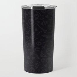 Dark Halloween Pattern Travel Mug