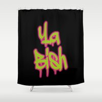 kendrick lamar Shower Curtains featuring Ya Bish  by Poppo Inc.