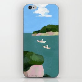 Peaceful sea iPhone Skin