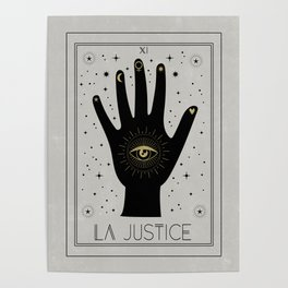 La Justice or The Justice Tarot Poster