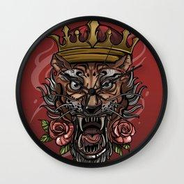 Crazy tiger Wall Clock