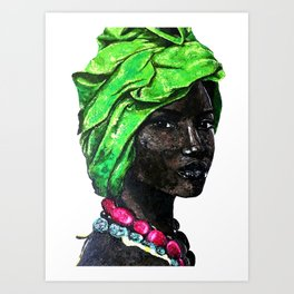 African Beauty Queen Art Print