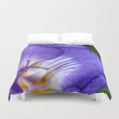 single purple flower Duvet Cover