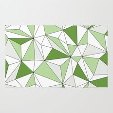 Geo - gray, green and white. Rug