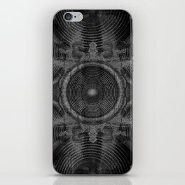 Black and white music speakers iPhone Skin