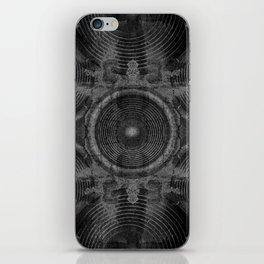 Black and white music speakers iPhone Skin
