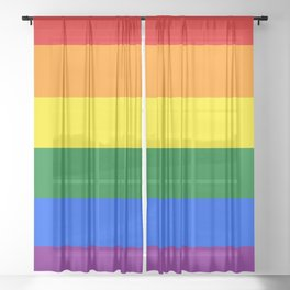 Pride Rainbow Colors Sheer Curtain