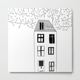 HOUSE ILLUSTRATION Metal Print
