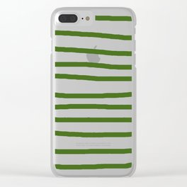 Simply Drawn Stripes in Jungle Green Clear iPhone Case