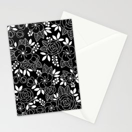 Rosalia Black Stationery Cards