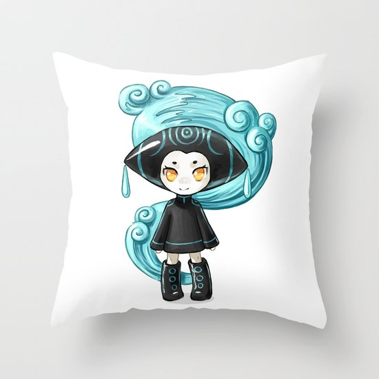 Water Sprite Throw Pillow