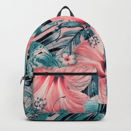 Vintage Jade Coral Aloha Backpack