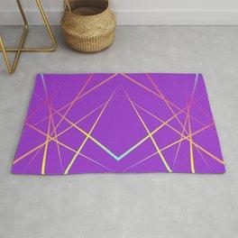 Laser Light Show - Purple Rug