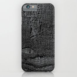 Old Fabric Fibers-Distressed-Torn Cloth-Ripped iPhone Case
