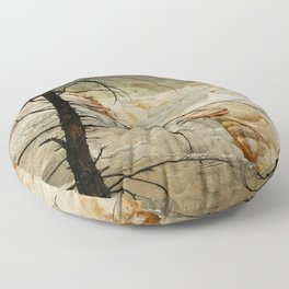 The Beauty Of A Travertine Terrace Floor Pillow